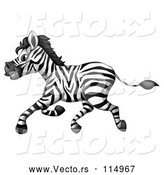 Vector of Happy Zebra Running by Graphics RF