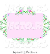 Vector of Heart-shaped Vine with Copyspace by