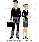 Vector of Hispanic Businessman and Lady by Rosie Piter