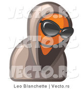 Vector of Hooded Orange Guy Wearing Sunglasses by Leo Blanchette