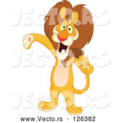 Vector of Host or Singer Lion Using His Tail like a Microphone by Yayayoyo