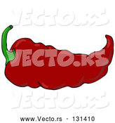 Vector of Hot and Spicy Mexican Red Chili Pepper by Djart