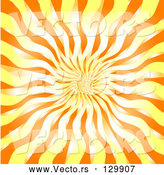 Vector of Hot, Orange, White and Yellow Fiery Burst by KJ Pargeter