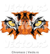 Vector of Intimidating Tiger Eyes - Mascot Design by Chromaco