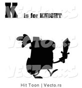 Vector of K Is for Knight Silhouette by Hit Toon