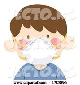 Vector of Kid Boy N95 Masks Protect Illustration by BNP Design Studio