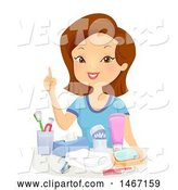 Vector of Lady Discussing Hygiene by BNP Design Studio