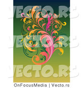 Vector of Leafy Floral Vines Background Design by OnFocusMedia