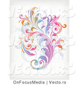 Vector of Leafy Floral Vines Background Design Version 11 by OnFocusMedia
