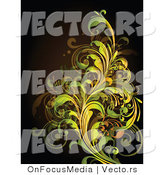 Vector of Leafy Floral Vines Background Design Version 17 by OnFocusMedia