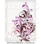 Vector of Leafy Floral Vines Background Design Version 2 by OnFocusMedia