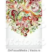 Vector of Leafy Floral Vines Background Design Version 20 by OnFocusMedia
