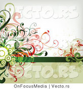 Vector of Leafy Floral Vines Background Design Version 26 by OnFocusMedia