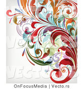 Vector of Leafy Floral Vines Background Design Version 28 by OnFocusMedia
