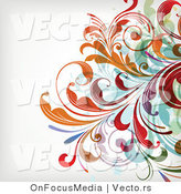 Vector of Leafy Floral Vines Background Design Version 31 by OnFocusMedia