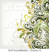 Vector of Leafy Floral Vines Background Design Version 4 by OnFocusMedia