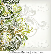 Vector of Leafy Floral Vines Background Design Version 7 by OnFocusMedia