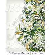 Vector of Leafy Floral Vines Background Design Version 9 by OnFocusMedia