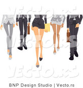 Vector of Legs of a Business Girls and Boys Walking Forward by BNP Design Studio
