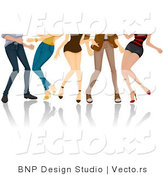 Vector of Legs of Dancing Girls and Boys by BNP Design Studio