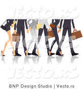 Vector of Legs of Professional Guys and Ladies Walking by BNP Design Studio