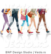 Vector of Legs of Walking School Girls and Boys by BNP Design Studio