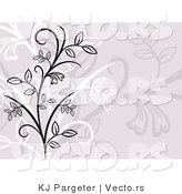 Vector of Light Purple Floral Vines Background Design by KJ Pargeter