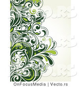 Vector of Lush Green Vines over Off-White Background Design by OnFocusMedia
