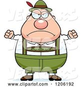 Vector of Mad Cartoon Chubby Oktoberfest German Guy by Cory Thoman