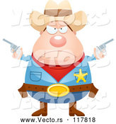 Vector of Mad Sheriff Cowboy with Pistols by Cory Thoman