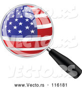 Vector of Magnifing Glass with an American Flag by Andrei Marincas
