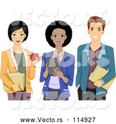Vector of Male and Two Female Teachers by BNP Design Studio