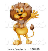 March 24th, 2018: Vector of Male Lion Waving by Graphics RF