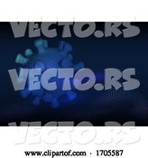 Vector of Medical Background with Abstract Covid 19 Virus Cell by KJ Pargeter