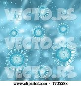 Vector of Medical Background with Abstract Virus Cells Depicting Covid 19 by KJ Pargeter