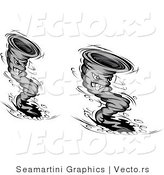 Vector of Multiple Vortex Tornado Cartoon Characters by Vector Tradition SM