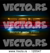 Vector of Neon Futuristic Happy New Year 2013 Background by KJ Pargeter