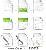 March 20th, 2018: Vector of Nine Letters and Files with Check Lists, Magnifying Glasses, Pens and Pencils by Beboy