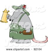 Vector of Oktoberfest Rat Holding up a Beer Stein by Djart