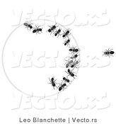 Vector of One Ant Looking at Group of Ants Trapped Within a Circle by Leo Blanchette
