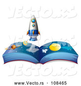 Vector of Open Astronomy Book by Graphics RF