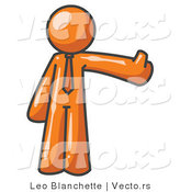 Vector of Orange Business Guy Giving the Thumbs up by Leo Blanchette