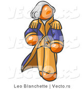 Vector of Orange George Washington by Leo Blanchette