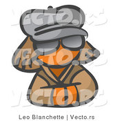 Vector of Orange Girl Incognito by Leo Blanchette