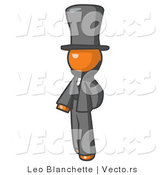 Vector of Orange Guy Abe Lincoln by Leo Blanchette