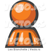 Vector of Orange Guy Avatar Character by Leo Blanchette