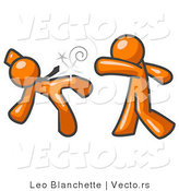 Vector of Orange Guy Being Punched by Another by Leo Blanchette