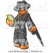 Vector of Orange Guy Checking His Pocket Watch by Leo Blanchette