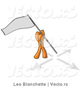 Vector of Orange Guy Claiming Territory or Capturing the Flag by Leo Blanchette