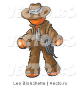 Vector of Orange Guy Cowboy Adventurer by Leo Blanchette